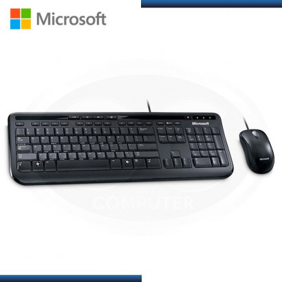 KIT MICROSOFT WIRED DESKTOP 600  BLACK FOR BUSINESS USB (PN:3J2-00008)