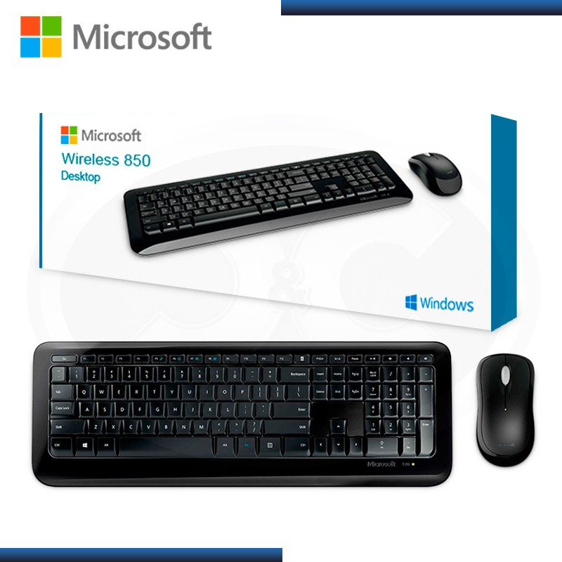 KIT MICROSOFT WIRELESS 850 DESKTOP TECLADO + MOUSE (PN:PY9-00004)