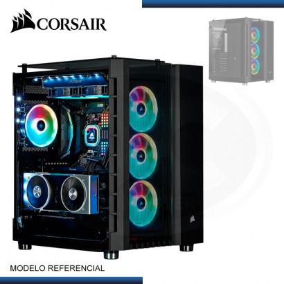 CASE CORSAIR CRYSTAL SERIES 680X BLACK | FAN RGB x3 | VIDRIO TEMPLADO | USB-C | M-ATX (PN: CC-9011168-WW )