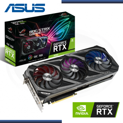 TARJETA  ASUS ROG STRIX GAMING 3090 24GB GDDR6 X OC , PCI 4.0 /  (PN:ROG-STRIX -RTX3090-24-GAMING )