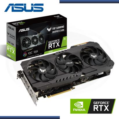 VIDEO PCI EXP. ASUS TUF GAMING RTX 3080 OC 10GB GDDR6X  | 320-BIT | DP x3 | HDMI x2 (PN: 90YV0FB1-M0AM00)
