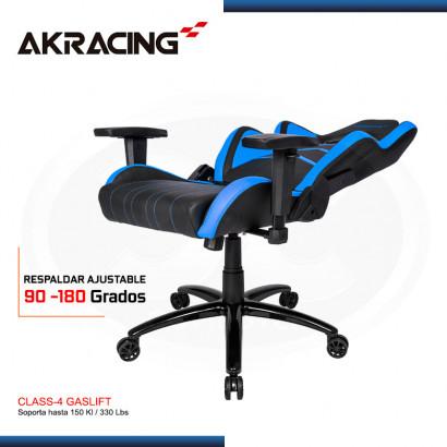 SILLAS GAMER AK-RACING PLAYER SERIES AZUL (PN: AK-K6014-BL)