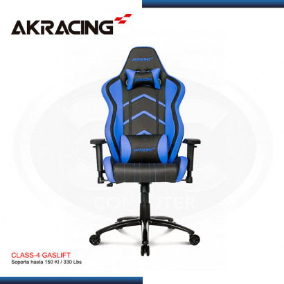 SILLAS GAMER AK-RACING PLAYER SERIES AZUL (PN: AK-K6014-BL)