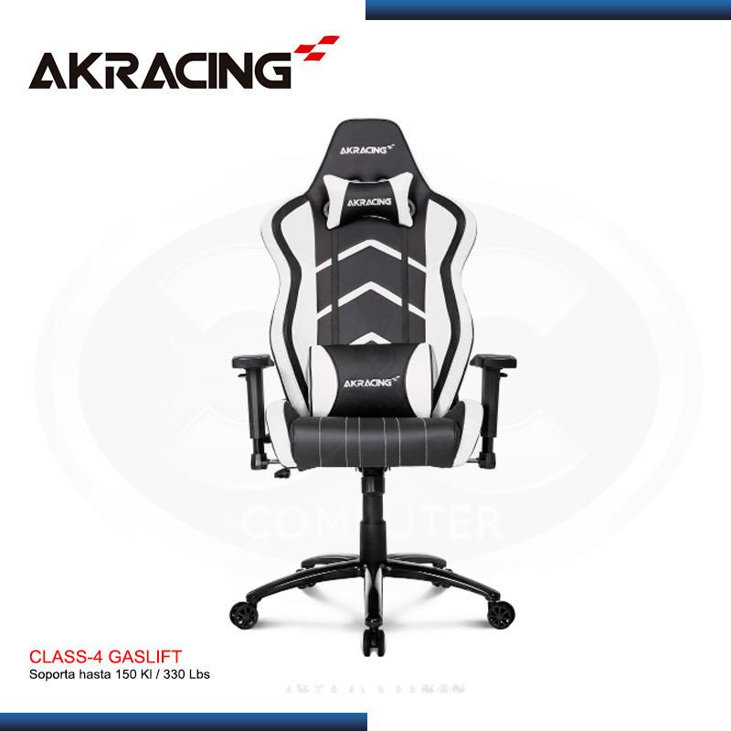 SILLA GAMER AK-RACING PLAYER SERIES BLANCO (PN: AK-K6014-WT)