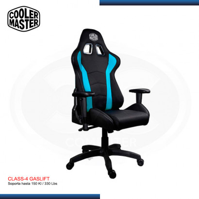 SILLA GAMING COOLER MASTER CALIBER R1 BLACK-BLUE | 180° | CLASS 4 |150 KG | (PN: CMI-GCR1-2019B )