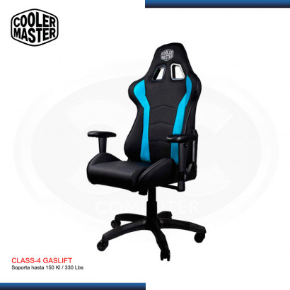 SILLA GAMING COOLER MASTER CALIBER R1 BLACK-BLUE | 180° | CLASS 4 |150 KG | (PN: CMI-GCR1-2019B )
