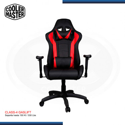 SILLA GAMING COOLER MASTER CALIBER R1 BLACK-RED | 180° | CLASS 4 |150 KG | (PN: CMI-GCR1-2019R )