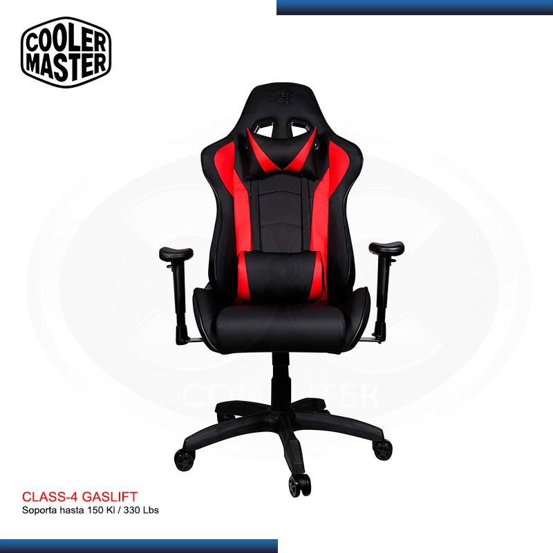 SILLA GAMING COOLER MASTER CALIBER R1 BLACK-RED | 180° | CLASS 4 |150 KG | (PN: CMI-GCR1-2019R )