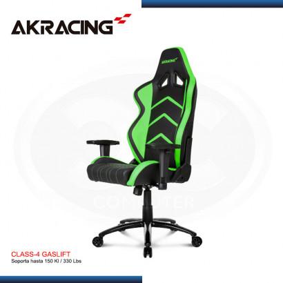 SILLA GAMER AK-RACING PLAYER SERIES VERDE (PN: AK-K6014-BG)