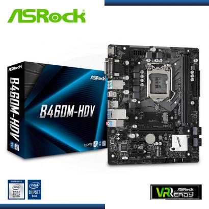 MB ASROCK B460M-HDV  LGA 1200 C/  LAN, HDMI, DVI-D, VGA, DDR4 ,USB 3.2  MICRO ATX  M.2 (PN:90-MXBD30-A0UAYZ )