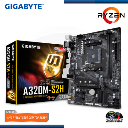MB GIGABYTE GA-A320M-S2H C/ VIDEO-SONIDO- RED- USB 3.1, DDR4, AM4, MICRO ATX