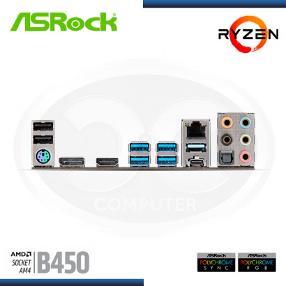 MB ASROCK B450M STEEL LEGEND C/ SND | RED | DDR4 | HDMI | DP | AM4 | ATX (PN:90-MXB9Y0-A0UAYZ)