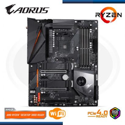MB GIGABYTE GA-X570 AORUS PRO WIFI  / SONIDO- RED USB3.1- USB /HDMI- DDR4 /AM4, ATX