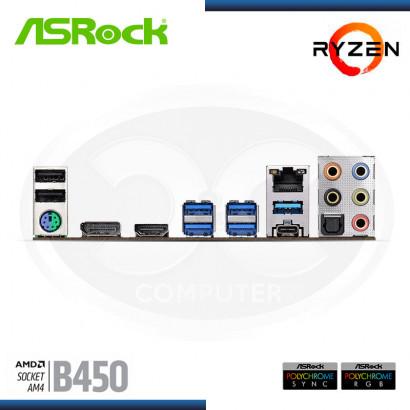 MB ASROCK B450 STEEL LEGEND C/ SND | RED | DDR4 | HDMI | DP | AM4 | ATX USB 3.1 (PN:90-MXBA00-A0UAYZ)