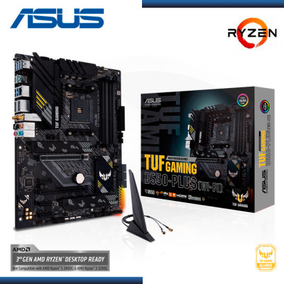 MB ASUS TUF GAMING B550-PLUS(WI-FI)  C/ SONIDO RED , M.2 USB 3.2 ATX  (PN: 90MB15D0-M0AAY0 )