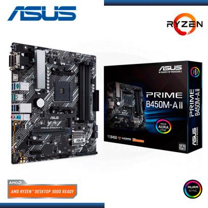MB ASUS PRIME B450M-A II C/ V-SND-RED / HDMI / USB 3.1 / AMD AM4 /  (PN: 90MB15Z0-M0EAY0 )