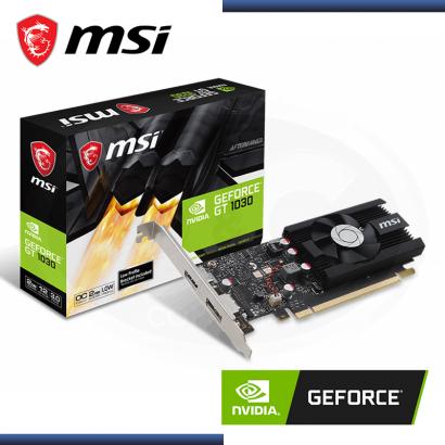VIDEO PCI EXP. GEFORCE MSI GT 1030 2GB OC DDR5 / 64 BIT DP / HDMI (PN: 912-V809-2494 )