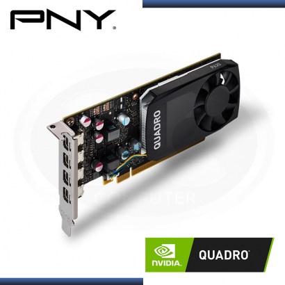 VIDEO PNY NVIDIA QUADRO P620 2GB DDR5 | 128 BIT | 512 NUCLEOS CUDA | 4x MINI DP (NP: VCQP620V2-PB )