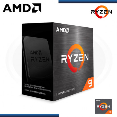 PROCESADOR AMD RYZEN 9 5900X | 3.7GHZ  up 4.8GHZ) | | 70MB | 12 NUCLEOS | AM4 | BOX(N/P 100-100000061WOF)