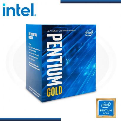 PROCESADOR INTEL PENTIUM GOLD G6400 4GHz | 2 CORE | 4MB | LGA 1200 | BOX (N/P: BX80701G6400 )
