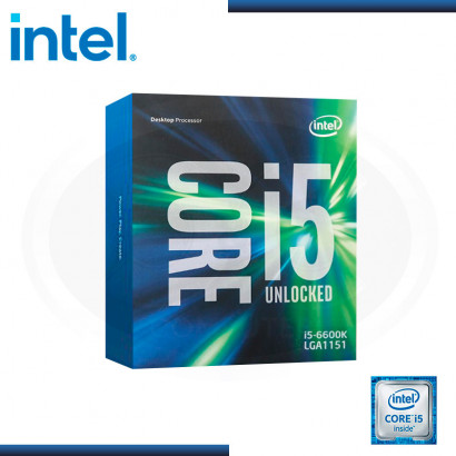 PROCESADOR INTEL CORE I5-6600K, 3.50 GHZ, 6 MB CACHÉ L3, LGA1151, 65W, TECNOLOGÍA 14 NM.