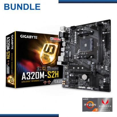 C&C Combo - AMD RYZEN 3 3200G + GIGABYTE GA-A320M-S2H  + 02 UND  KINGSTON HYPER X FURY BLACK DDR4 4GB 2666MHZ