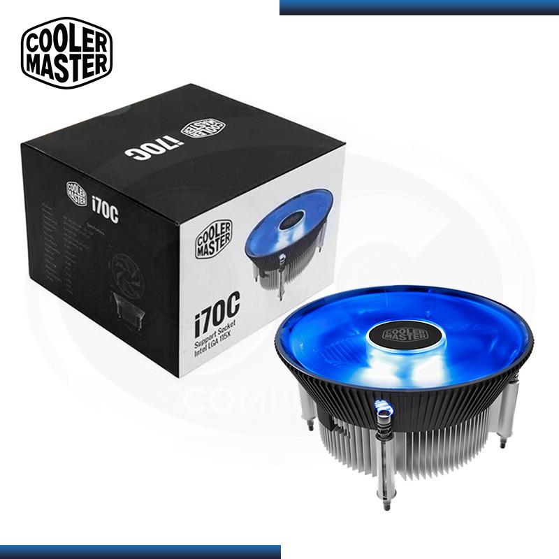 COOLER P/ CPU COOLER MASTER I70C BLUE LED (PN: RR-I70C-20PK-R1 )