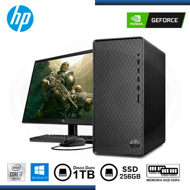"""PC DESKTOP HP M01- F102BLA INTEL CI7- 10700/8GB/1TB/256GB/GTX 1660 SUPER 6GB/ W10 HOME / 22 """"/ DVD/ (N/P 7WT07AA ABM )"""