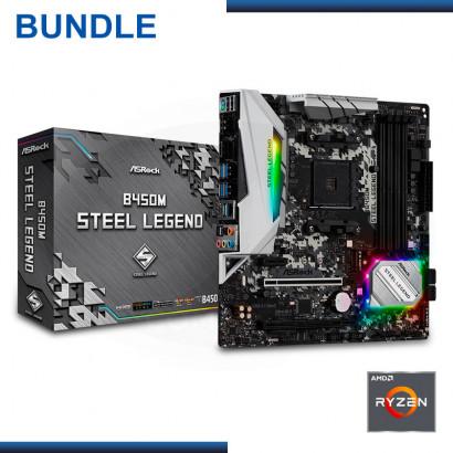 SAN VALENTEAM- AMD RYZEN 5 3600 + ASROCK B450M STEEL LEGEND