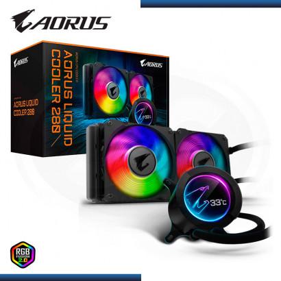 SISTEMA DE REFRIGERACION LIQUIDA GIGABYTE AORUS 280 RGB FUSION 2.0 | AMD | INTEL (N/P GP-AORUS LIQUID COOLER 280 )