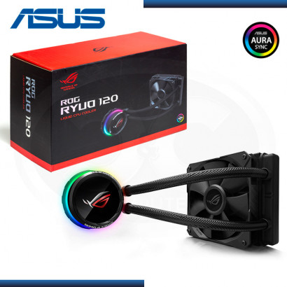 COOLER LIQUIDO P/ CPU ASUS ROG RYUO 120 RGB | OLED PANEL | FAN 120MM | INTEL | AMD | BLACK (N/P :90RC0010-M0AAY0 )