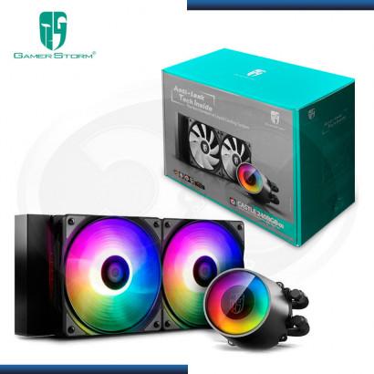 SISTEMA DE ENFRIAMIENTO LIQUIDO GAMER STORM CASTLE 240 RGB V2 BLACK (PN: DP-GS-H12AR-CSL240 V2 )