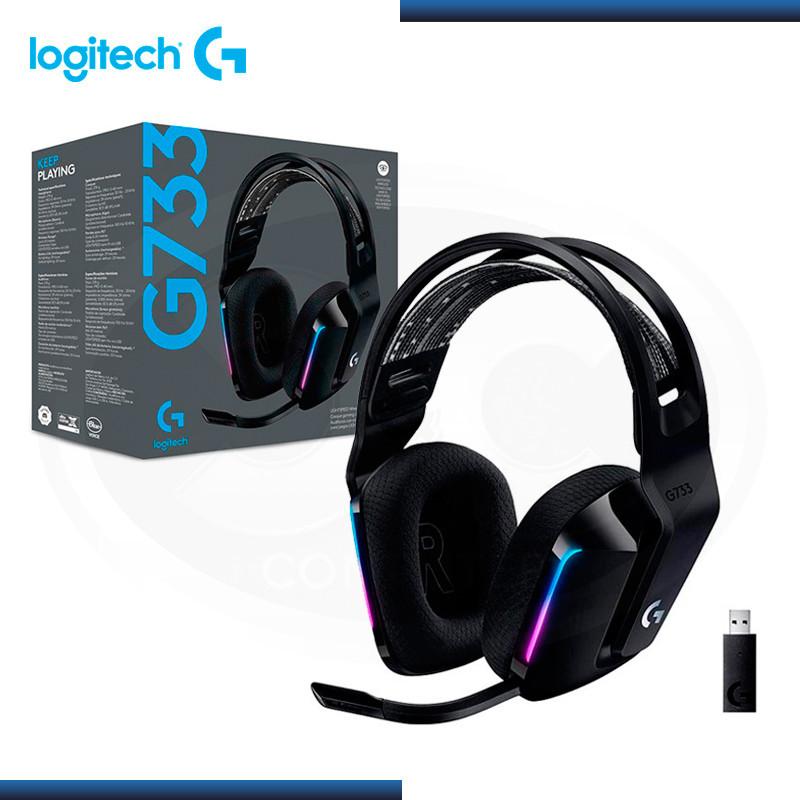 AUDIFONO C/MICROFONO WIRELESS LOGITECH G733 RGB   BLACK (PN 981-000863 )