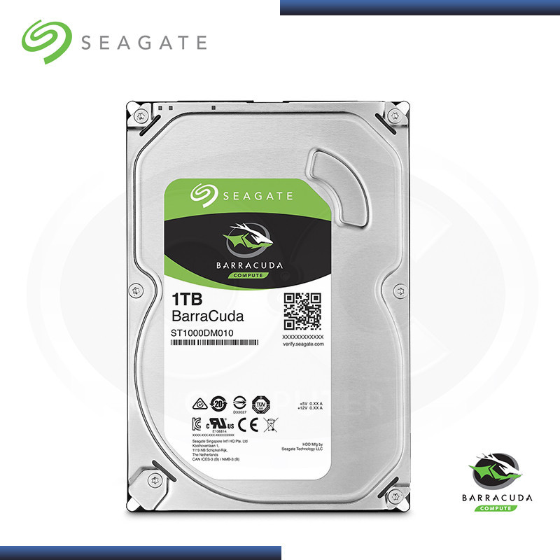 DISCO DURO SEAGATE BARRACUDA 1TB 7200 RPM SATA3 6GB/s 64MB CACHE 3.5 (N/P ST1000DM010 )