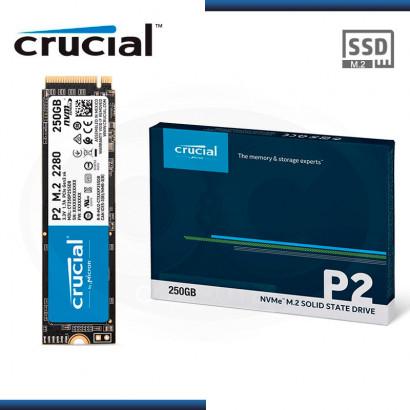 UNIDAD DE ESTADO SOLIDO CRUCIAL P2 250GB | M.2 2280 | NVME PCIE x4 (PN: CT250P2SSD8 )