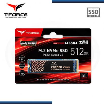 UNIDAD DE ESTADO SOLIDO TEAMGROUP T-FORCE CARD ZERO Z340 512GB M.2 NVME | PCIE GEN. 3 x4 (N/P TM8FP9512G0C311 )