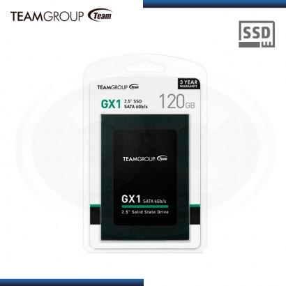 """UNIDAD DE ESTADO SOLIDO TEAM GROUP GX1 120GB SATA3 6GB/s, 2.5""""  (N/P T253X1120G0C101 )"""