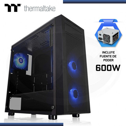 CASE THERMALTAKE VERSA J22 TG RGB C/ FUENTE 600 80 PLUS  | x3  FAN RGB (PN: CA-3L5-60M1WU-00 )