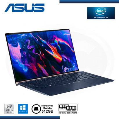 ASUS ZENBOOK UX433FAC A5154T - I5-10210U/BGA, 8GB, SSD 512GB, 14 FHD IPS WIN10 64BIT2B-ROYAL BLUE, BEZEL (NP:90NB0MQ5-M07250)