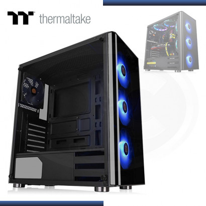 CASE THERMALTAKE V200 TG S/FUENTE | VIDRIO TEMPLADO | 3 FAN RGB | BLACK (PN: CA-1K8-00M1WN-01 )
