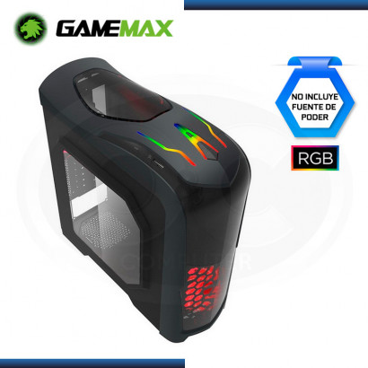 CASE GAMING GAMEMAX NEXUS G539 RGB S/FUENTE | x3 FAN | VENTANA ACRILICA | BLACK