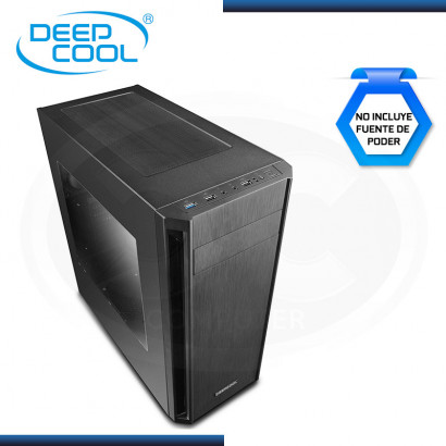 CASE DEEPCOOL D-SHIELD V2 SIN FUENTE/ VIDRIO TEMPLADO BLACK (PN: DP-ATX-DSHIELD-V2 )