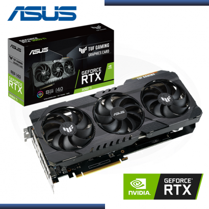TARJETA VIDEO PCI EXP. ASUS GEFORCE RTX 3060 TI  8GB, GDDR6, PCI .E4.0 RGB (NP: 90YV0G11-M0AA00)
