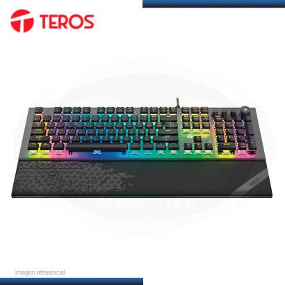 TECLADO GAMING TEROS MECANICO MULTIMEDIA ILUMINACION RGB USB (PN:TE-4180 )