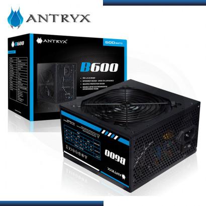 FUENTE PODER ANTRYX B600 | 600W REALES |  ATX 2.3 | BOX (PN: AP-B600R01 )