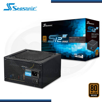 FUENTE PODER SEASONIC FOCUS SSR-550GB3 550W 80 PLUS BRONZE | ATX