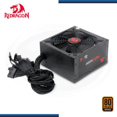 FUENTE PODER REDRAGON GC-PS002 600W | 80 PLUS BRONZE