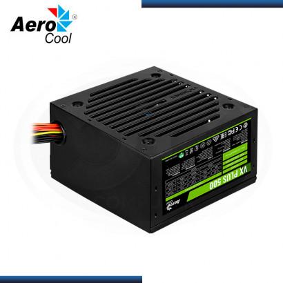 FUENTE AEROCOOL VX PLUS | 500W REALES | ATX 2.3 (N/P: 4713105962758 )