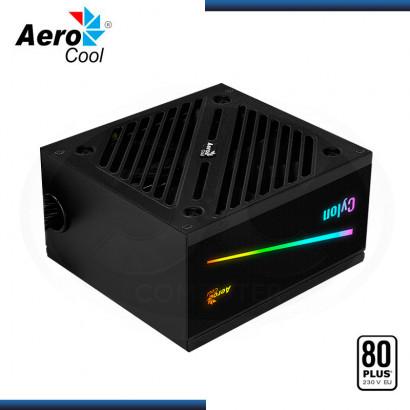 FUENTE AEROCOOL CYLON | 500W | RGB | 80 PLUS WHITE | APFC | ATX 2.4| US (N/P: 4718009153349)