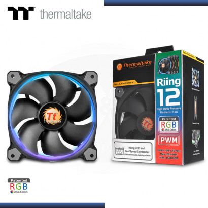 COOLER THERMALTAKE RIING 12 RGB TRIPLE PACK 120 X 120 X 25 mm (PN: CL-F042-PL12SW-B )